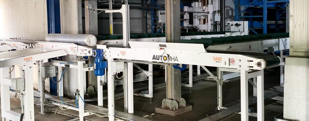 shahi magazzino autoportante automatico per industria tessile
