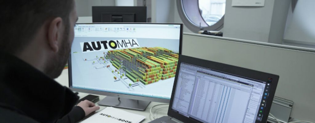 image virtual reproduction of the automatic warehouse