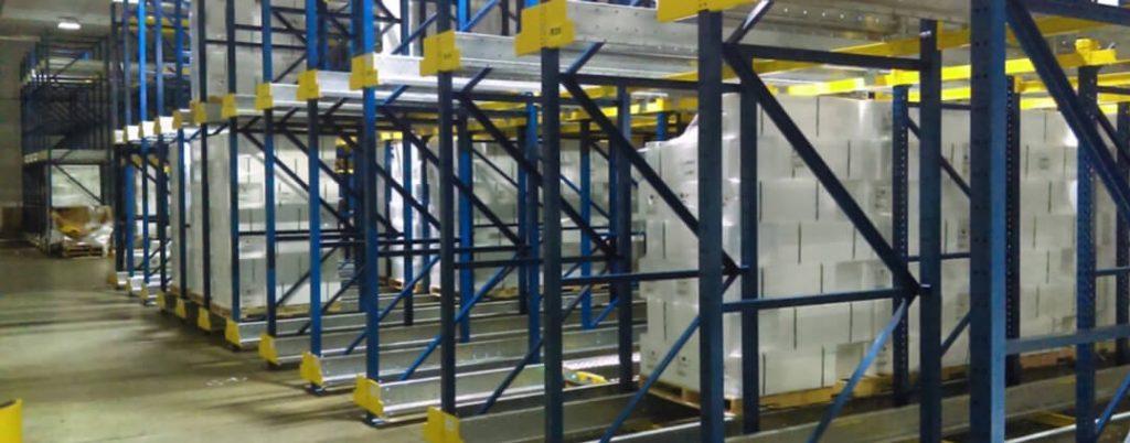 immagine magazzino automatico 3pl per la refrigerazione e lavorazione del pesce